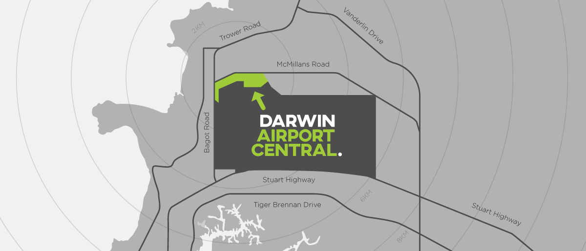 Darwin Airport Central Location