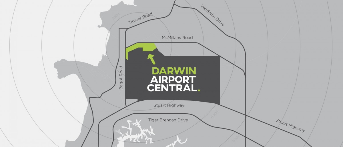 Darwin Airport Central Map